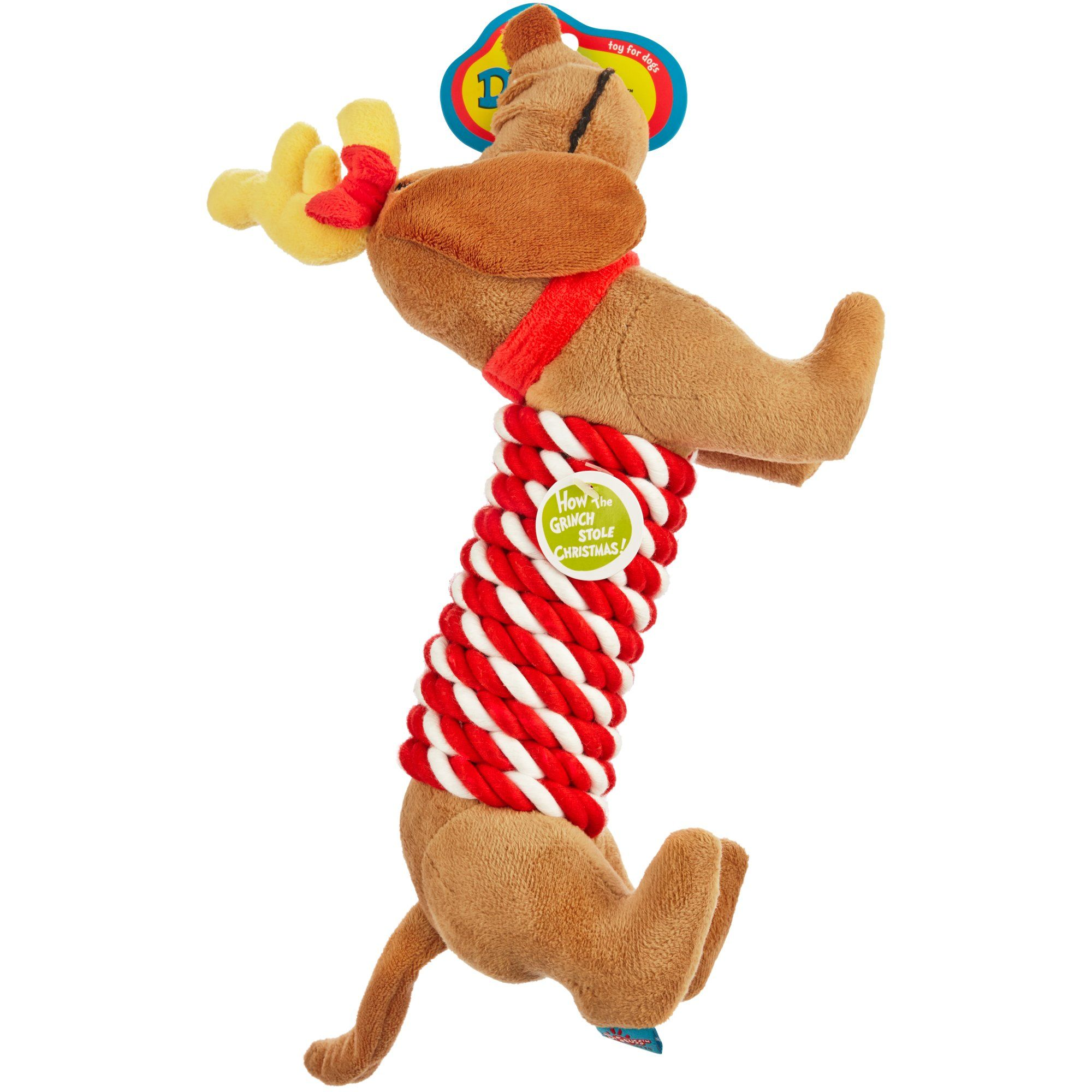 $10 Dr. Seuss How the Grinch Stole Christmas Max Rope Stick Dog Toy ...