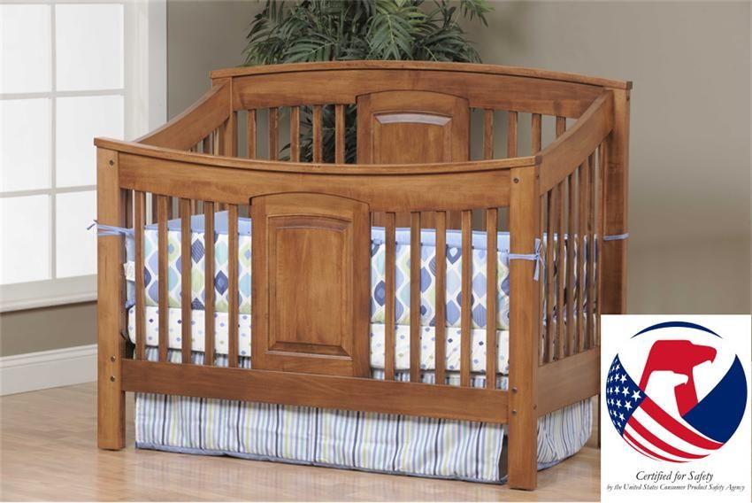 Amish Celebration Convertible Crib Made In Usa Nursery
