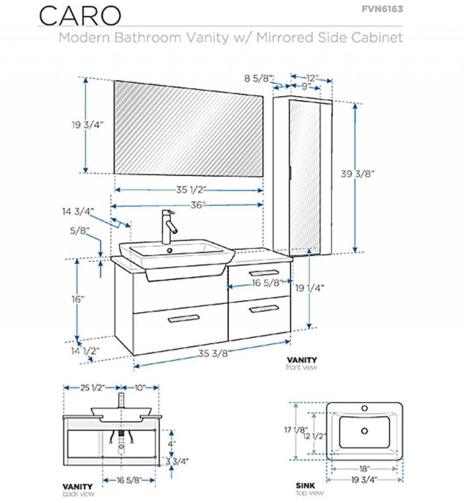 Bathroom Vanity Cabinet Dimensions Standard Globorank In Vanities Sizes Within