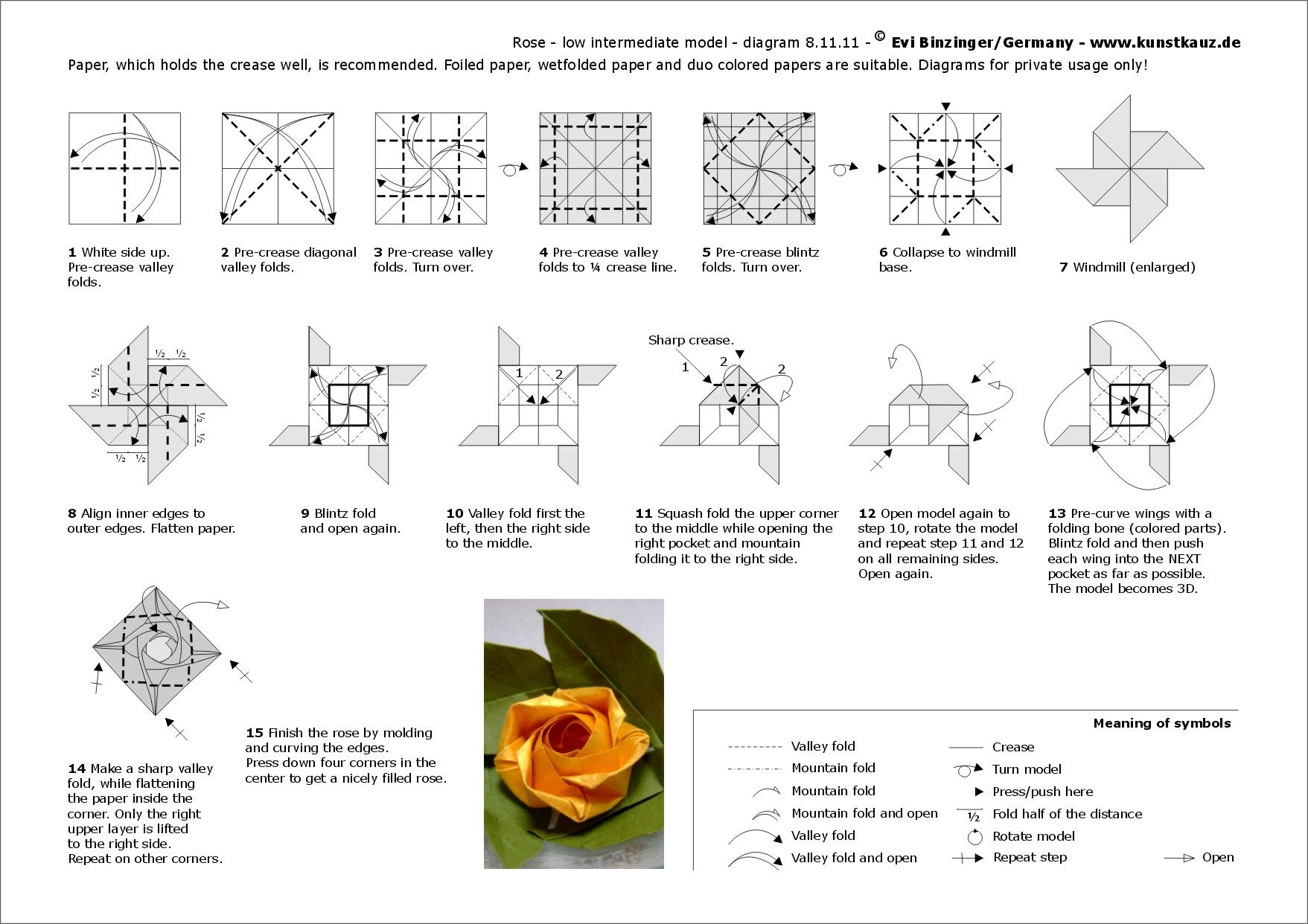 Todos os tamanhos origami rose binzinger flickr - Origami para todos ...