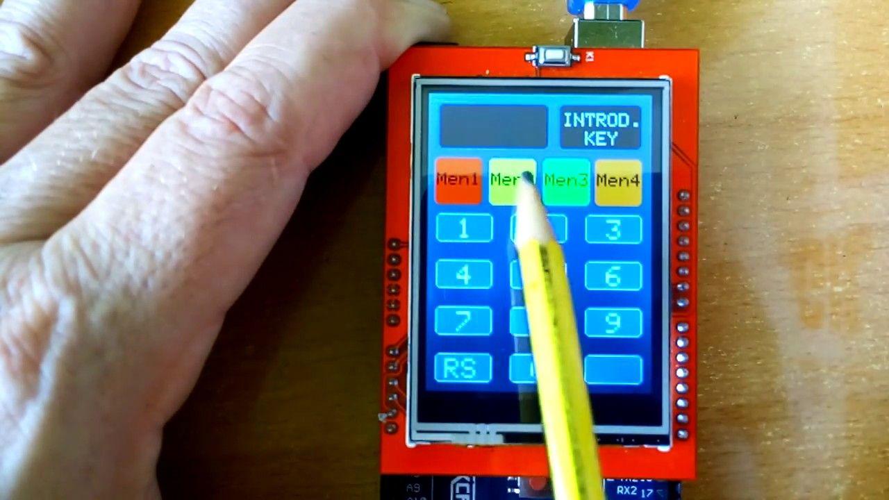 Arduino Mega Y Tft Lcd Touch 2 4 4 Menus Con Control De Acceso