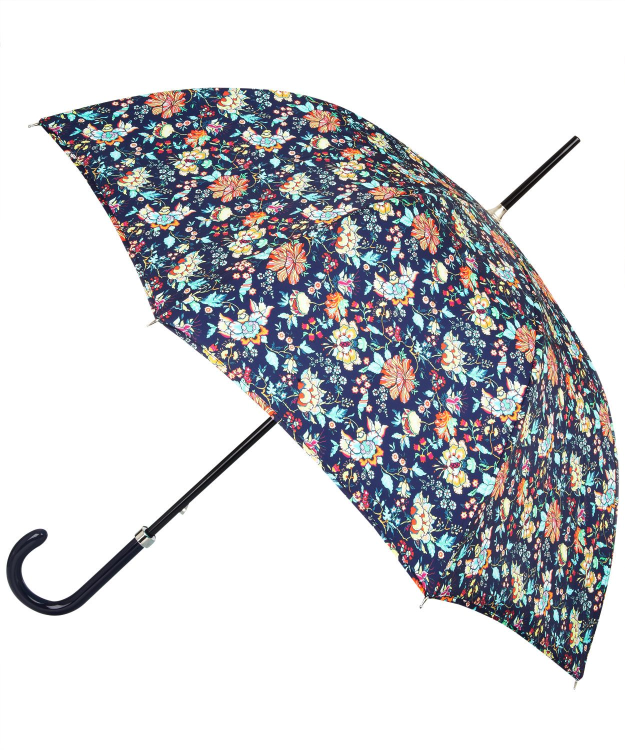 Shield yourself and a friend from the rain in style, with this navy Christelle Liberty print umbrella. £85.00
