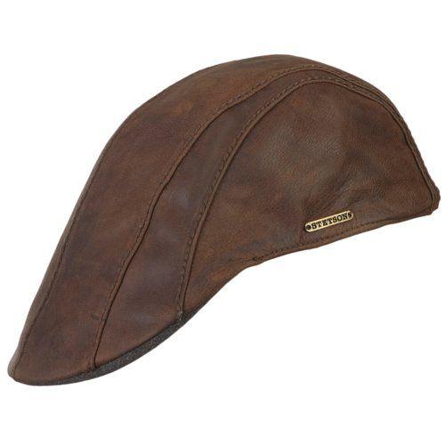 f327e74594f14 Stetson Manatee Goatskin Leatehr Duckbill Flat Cap (Small (54-55cm)) at Amazon  Men s Clothing store