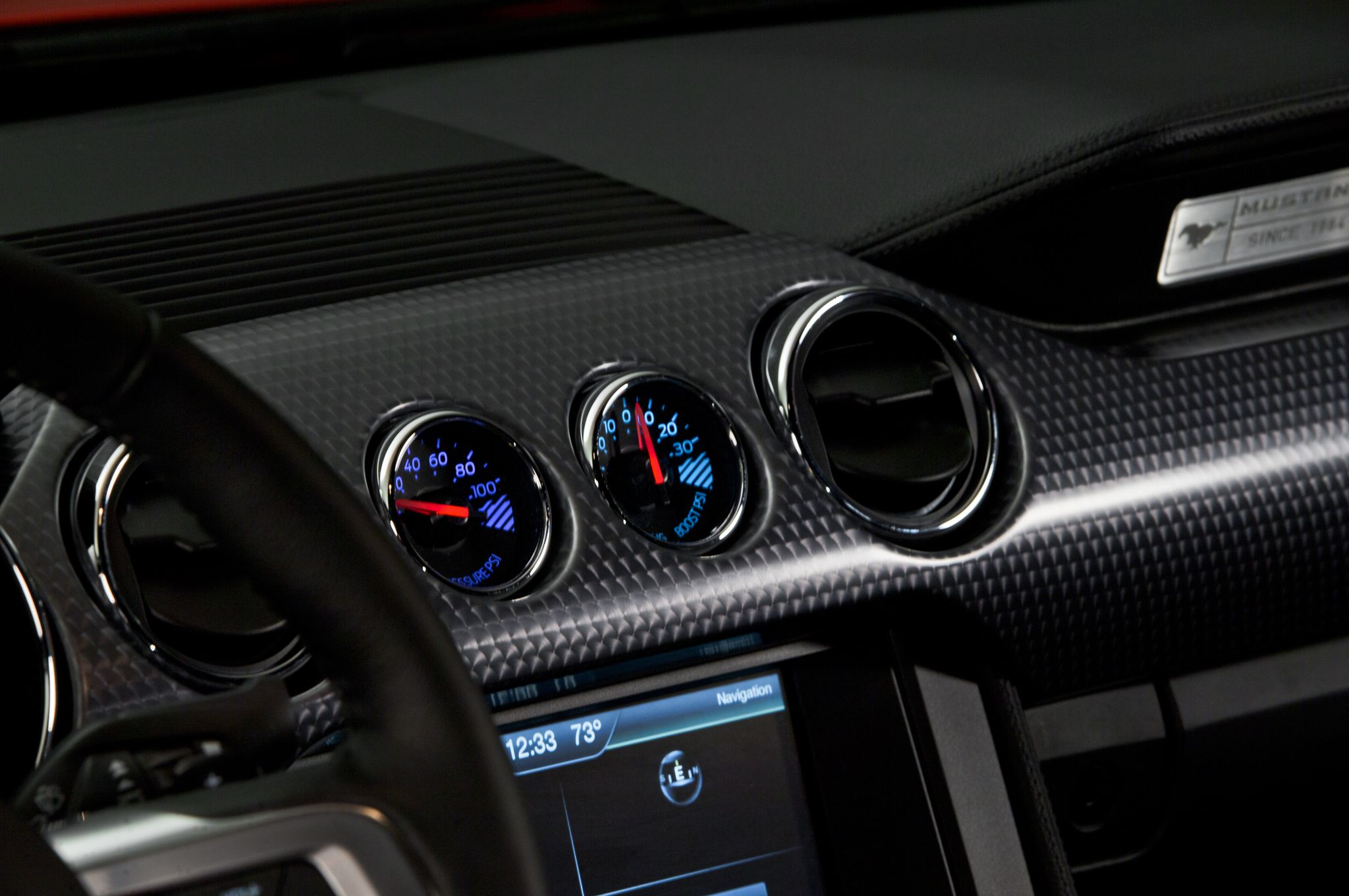 2015 ford mustang 50 red interior detail boost gauges - Ford Gt40 2015 Interior
