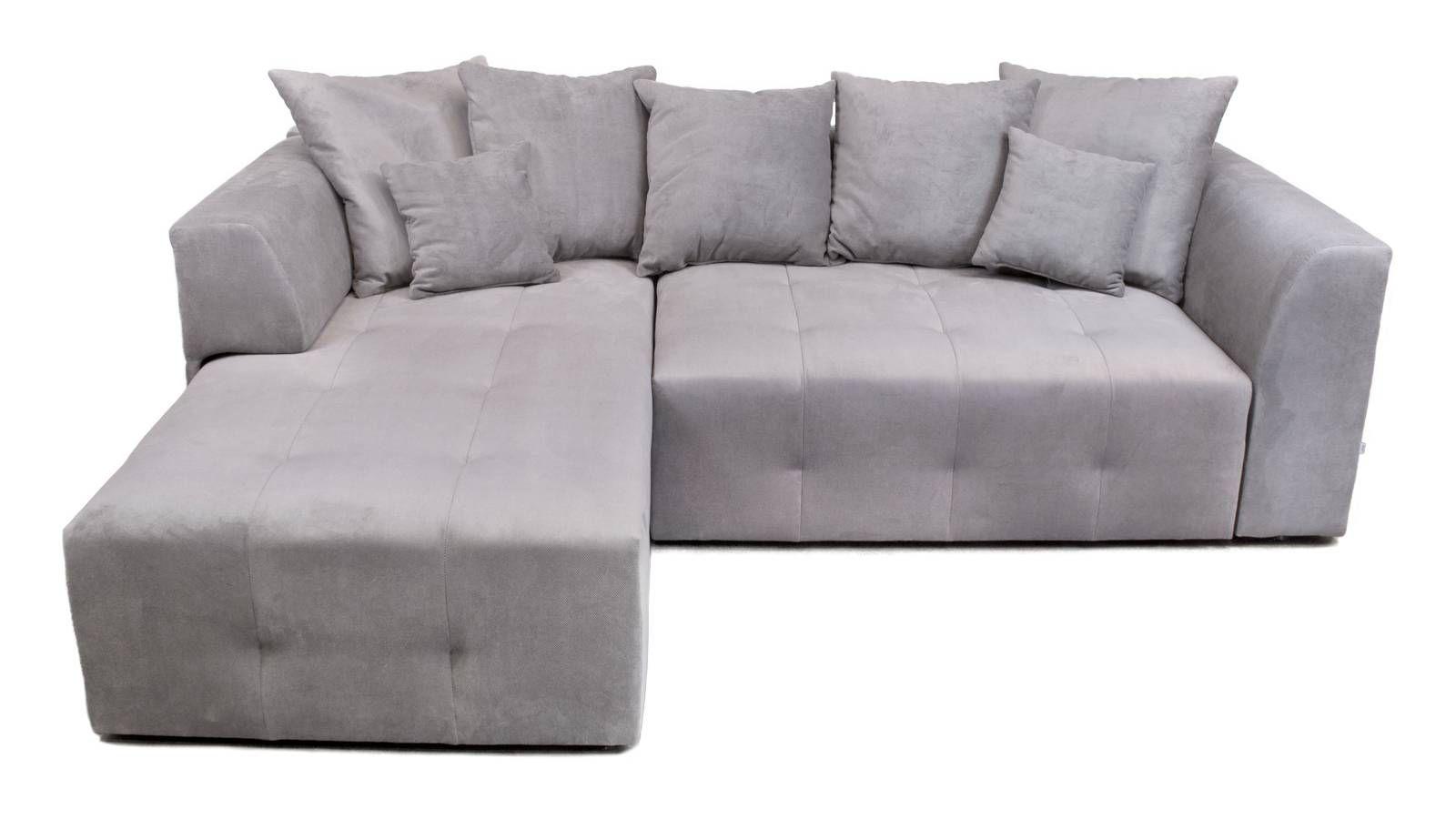 Grå Grizzlyn bäddsoffa med divan Divansoffa, compact living, sovrum, vardagsrum, silver, djup