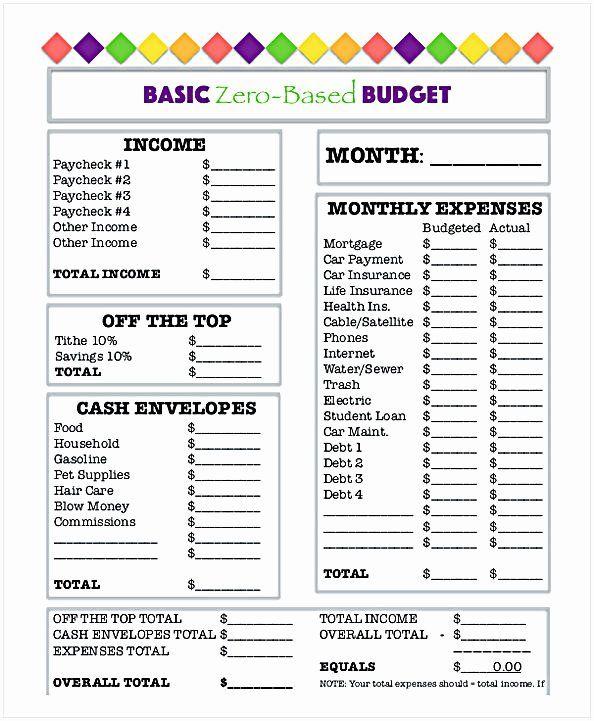 40 Free Household Budget Worksheet Pdf In 2020