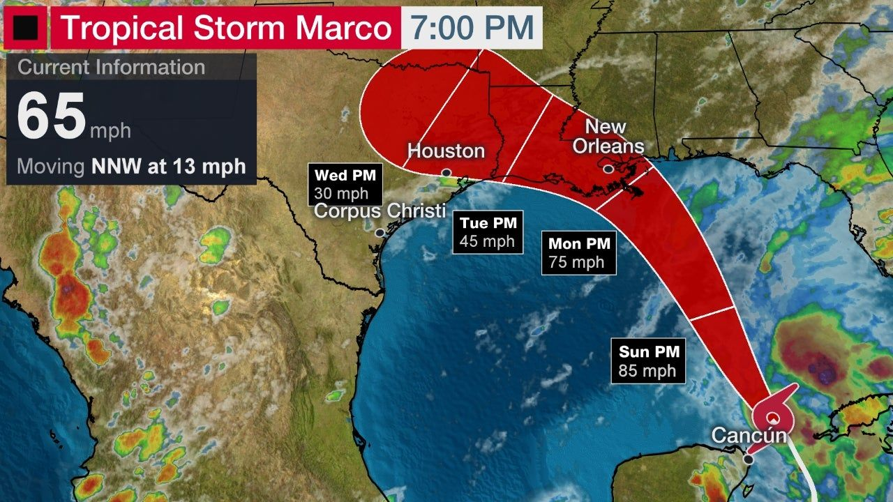 Tropical Storm Marco Forecast To Become A Hurricane Soon Hurricane Watches Issued In La Ms The Weather Channel In 2020 Tropical Storm Storm Surge The Weather Channel