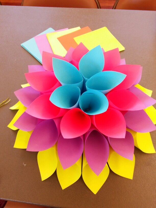 Simple Paper Chick Craft: Simple Paper Flower