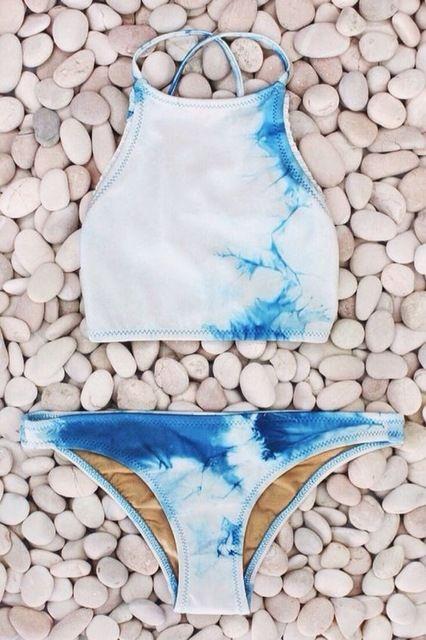 Crochet Bikini 2016 Bikinis Galaxy printed swimsuit maillot de bain femme swimwear women bikinis sexy bathing suit HQ12