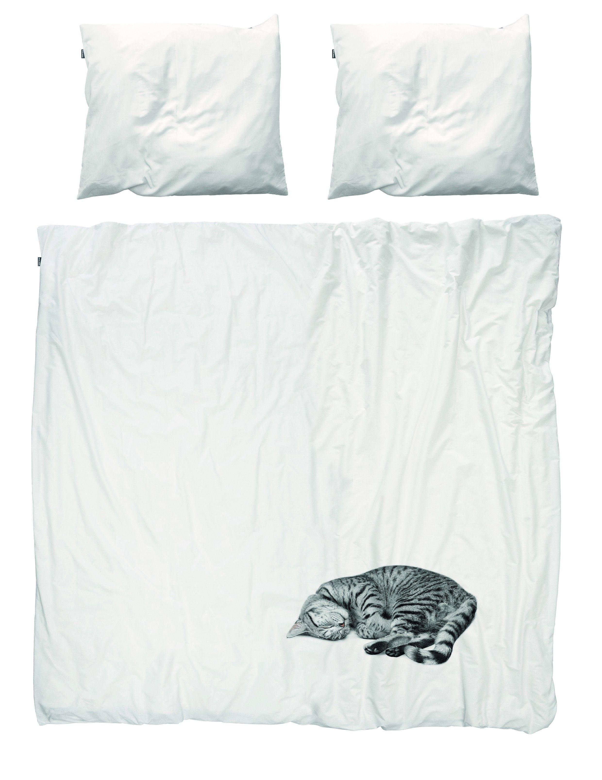 Housse de couette Ollie le chat - 2 places - SNURK | Aménagement ...