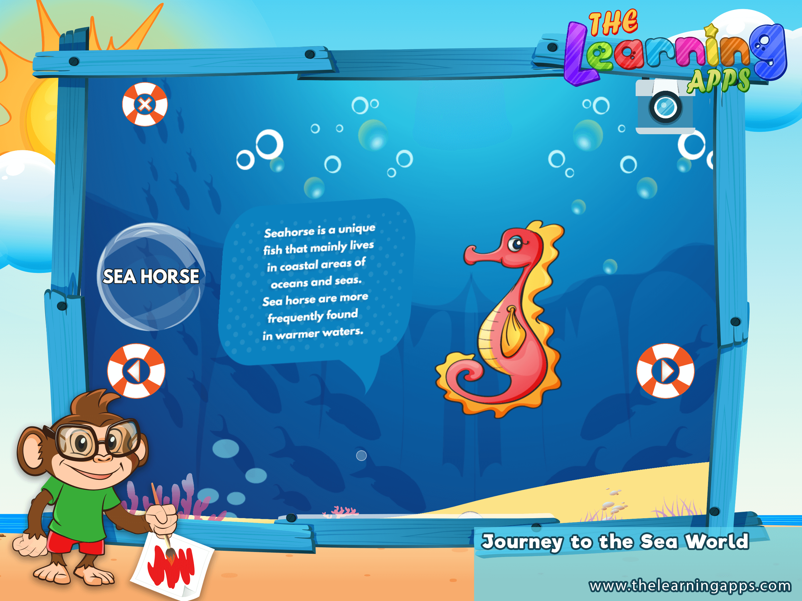 Teach Your Kids About Sea Horses And Many Other Sea Creatures Through This Interactive Educational App Sea Seal Sea Creatures For Kids Kids App Sea Animals [ 2048 x 2732 Pixel ]