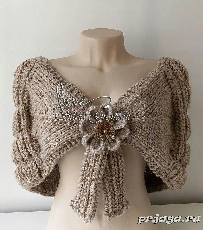 capa en dos agujas bufandas