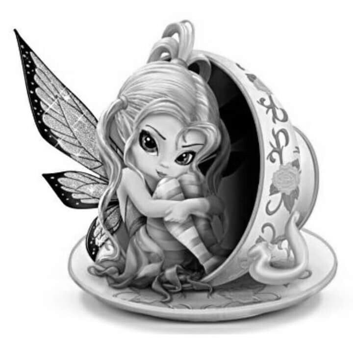 jasmine becket griffith coloring pages | Pin by Sarah Belletti on color pages in 2019 | Fairy ...