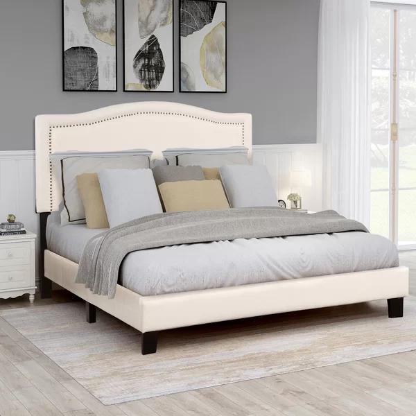 Campanelli Queen Upholstered Platform Bed In 2020 Upholstered