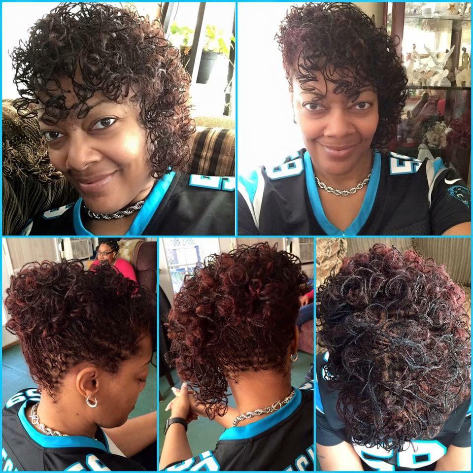 Starter Sisterlocks On Long Hair 10 5 Inches Done In Atlanta By Certified Sisterlocks Consultant Candis Falt Sisterlocks Styles Sisterlocks Natural Hair Styles