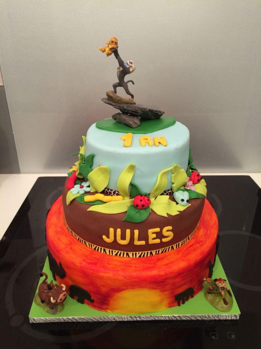 Gâteau d\u0027anniversaire Le Roi Lion