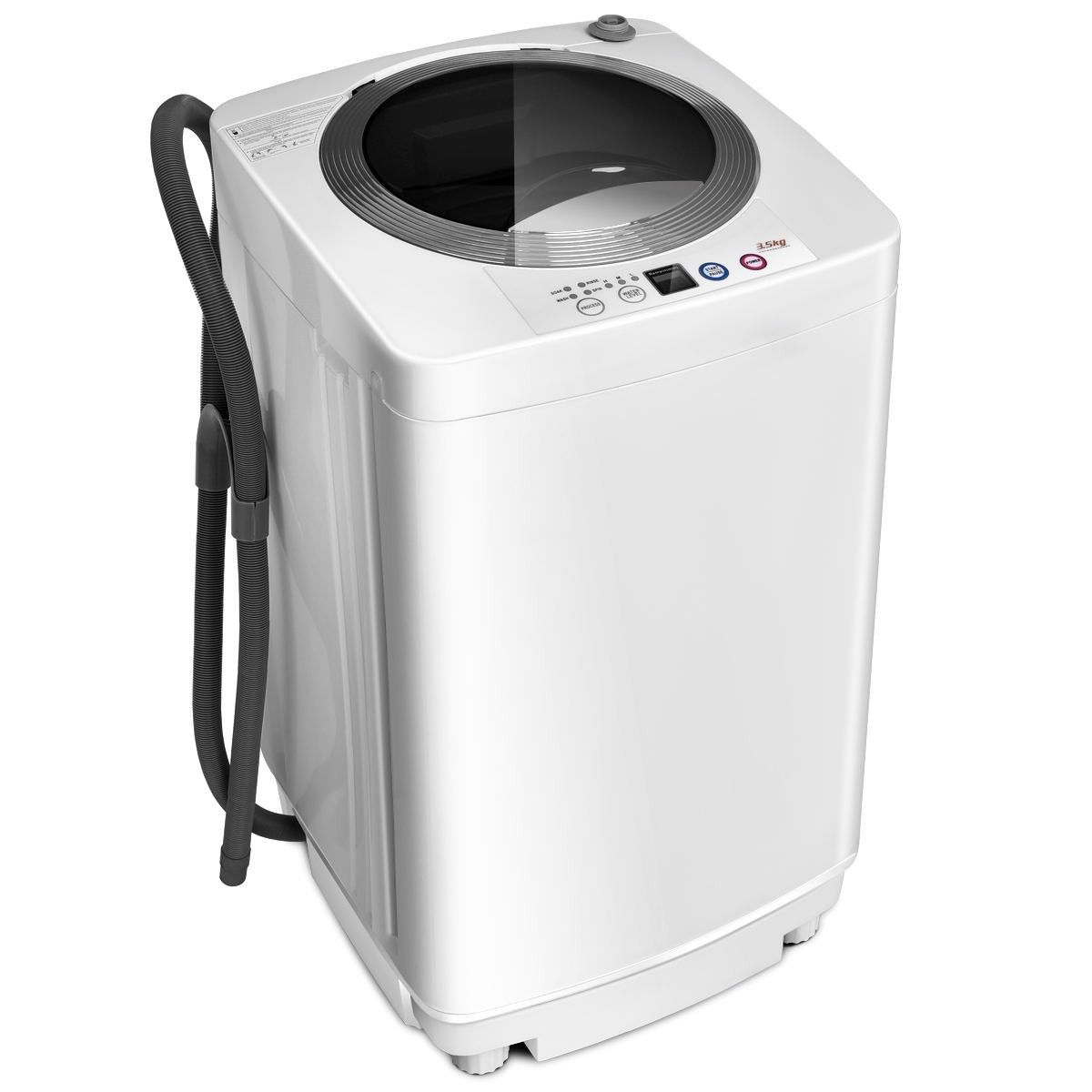 7 7 Lbs Automatic Laundry Washing Machine Material Stainless Steel Inner Tub Pp Plastic Metal Mini Washing Machine Portable Washing Machine Portable Washer