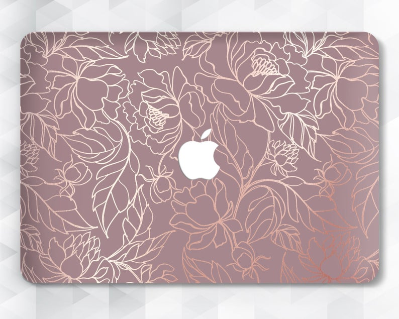Flowers Macbook case Floral Pink Macbook Pro 13 inch 2018 Air | Etsy