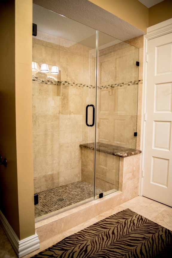 Travertine Tub Shower Conversion In The Woodlands Spring Tx