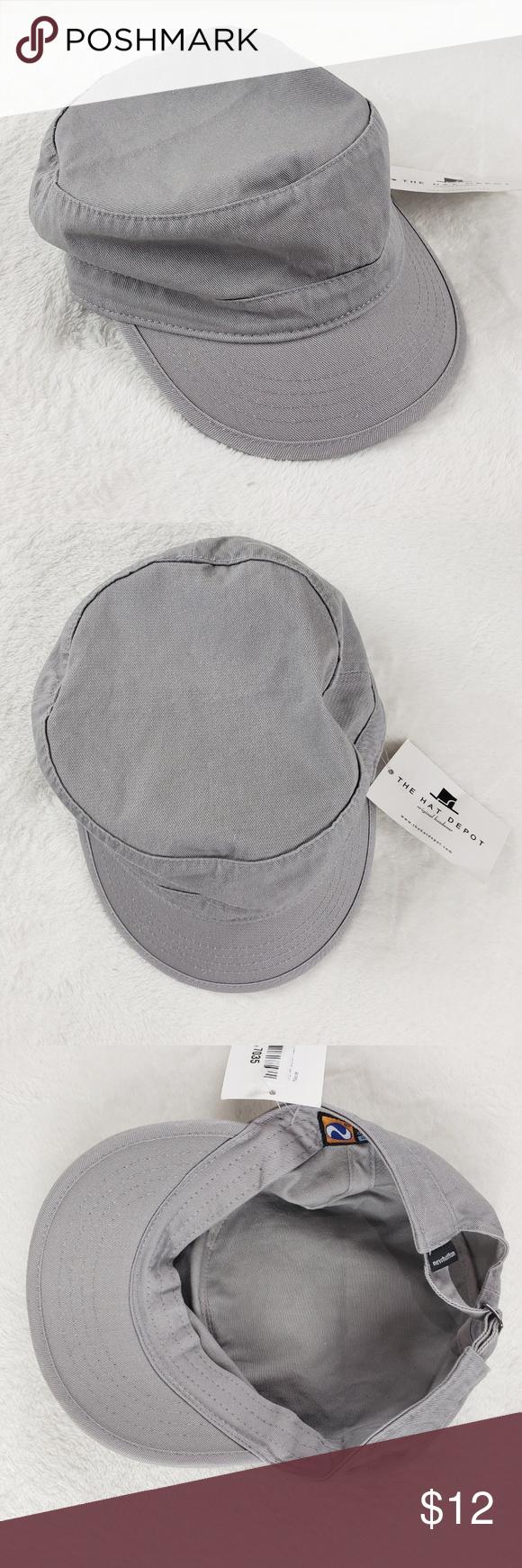 Charcoal Denim Hat Cap NEWHATTAN New