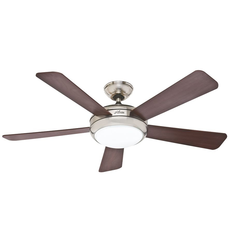 Hunter Palermo 52 In Brushed Nickel Downrod Or Flush Mount Ceiling Fan With Remote