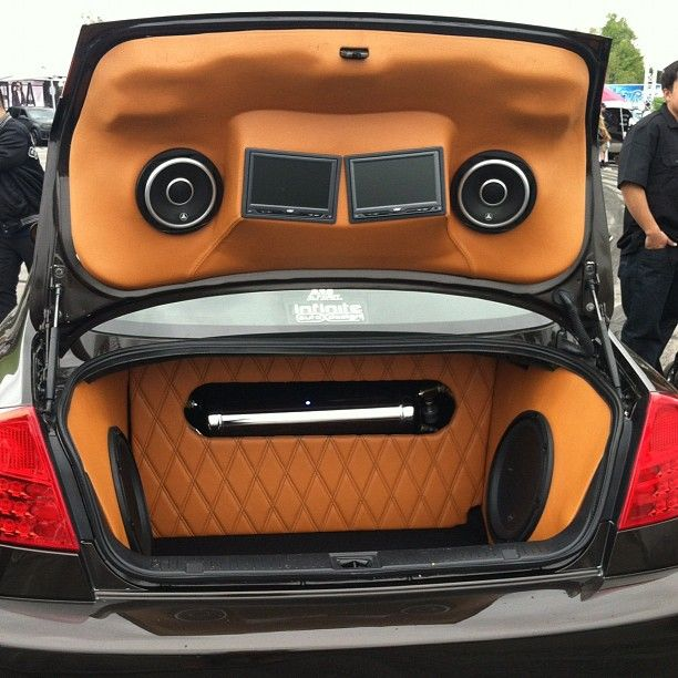 car stereo custom install face angry trunk Subs R Us ... |Stormtrooper Car Audio Custom Trunk Install