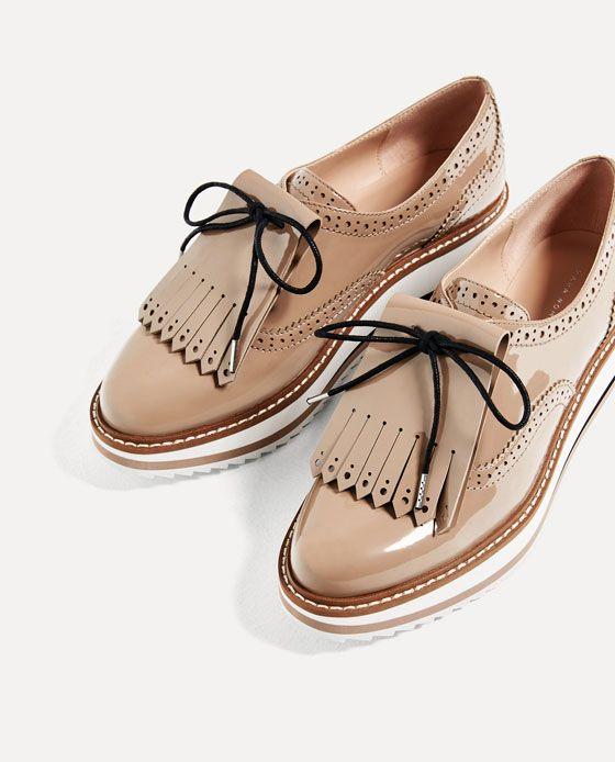 Image 3 Of Platform Bluchers From Zara Zara Zara