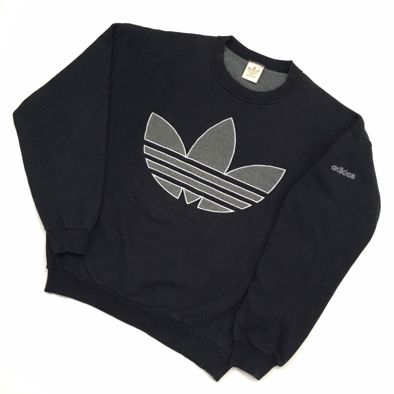Vintage 90s Adidas Sweatshirt Adidas Crewneck Adidas Sweater Etsy In 2021 Adidas Sweater Adidas Sweatshirt Sweatshirts [ 3000 x 3000 Pixel ]