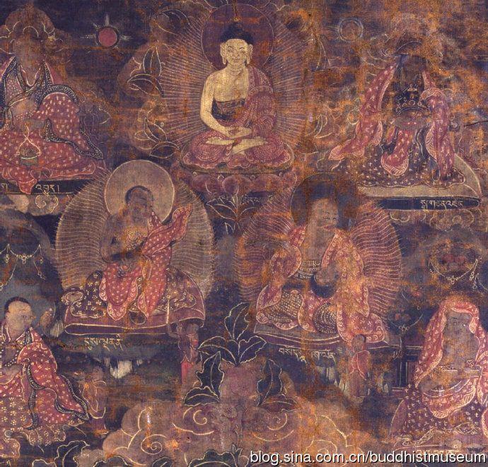 18世纪-释迦牟尼佛与十六罗汉