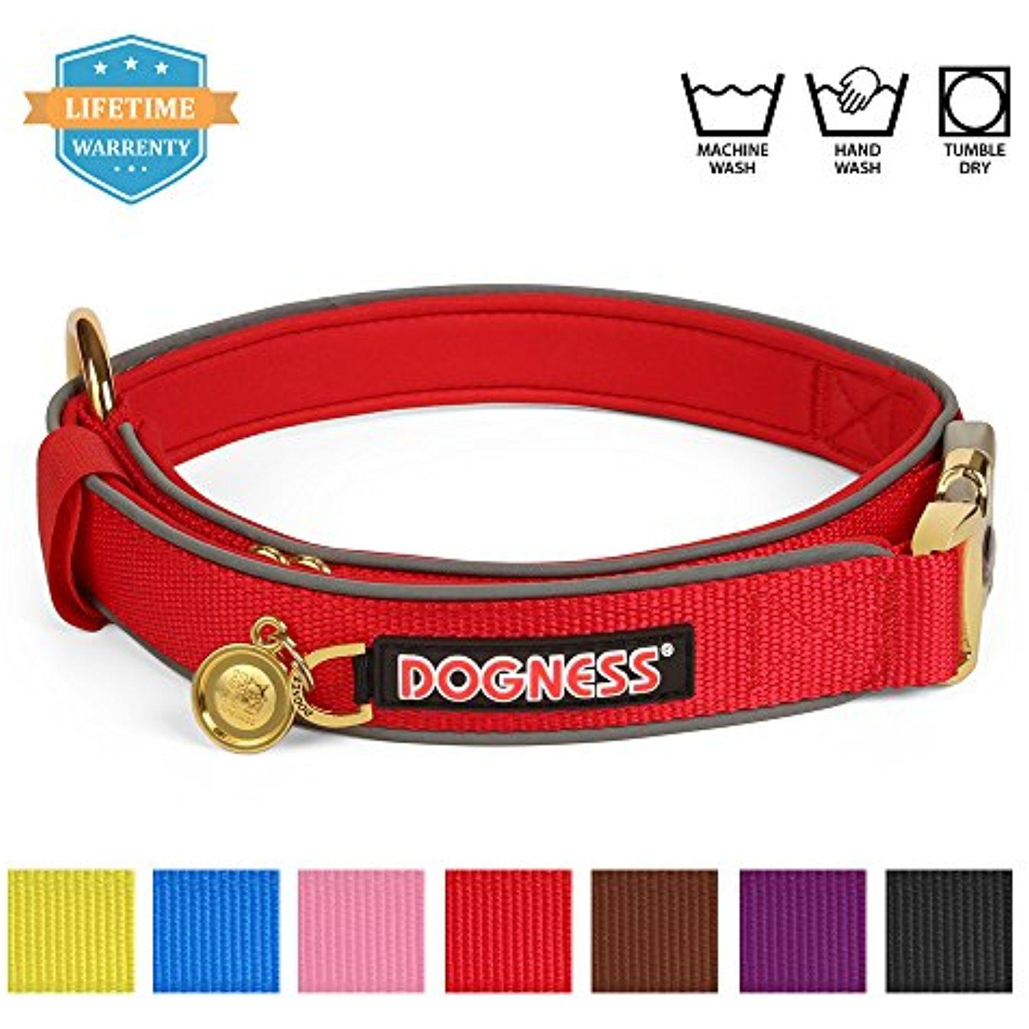 DOGNESS AntiChoking Dog Collar with Patented Gold Plated