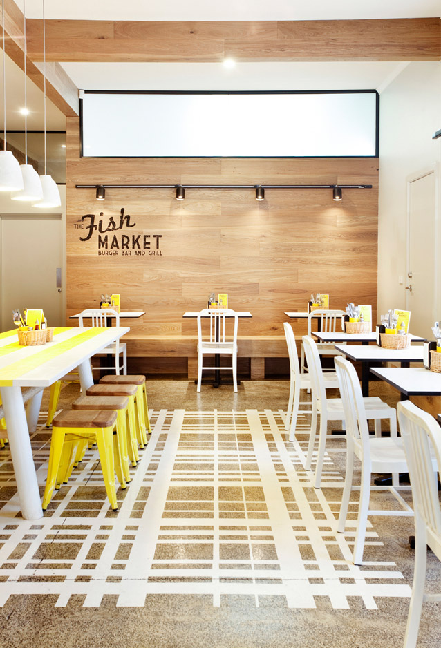 Inspiring Interior in a Fish Market with fresh yellow details | 79 ...