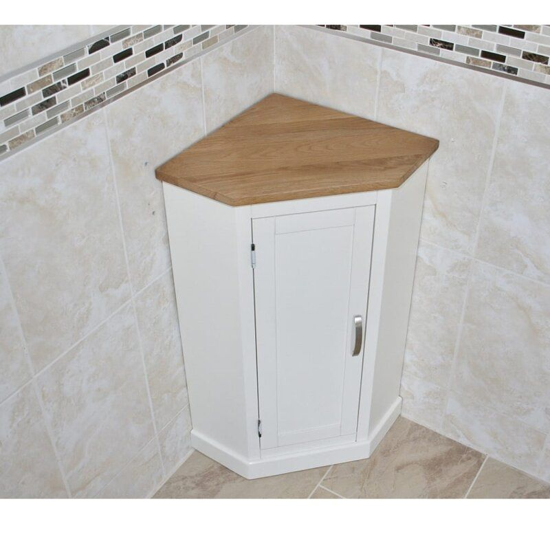 Ebersole Compact 39 X 80cm Corner Free Standing Cabinet Free Standing Cabinets Freestanding Bathroom Cabinet Under Sink Cupboard