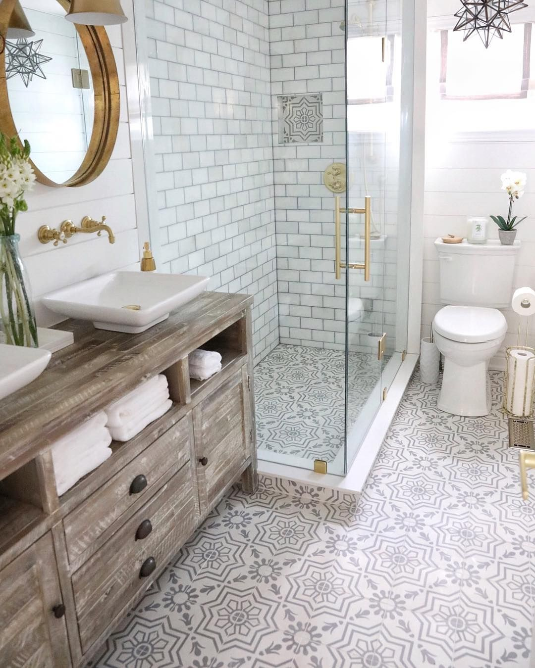 Cement Tile Shop On Instagram The Level Of Detail In This Project From Simplybeautifuleating Is Amazi Bathroom Interior Design Big Bathrooms Bathroom Trends