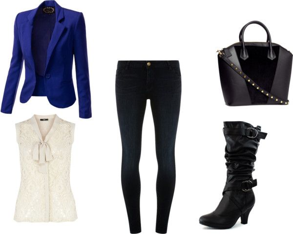 3 Outfit Ideas for a Christmas Party: Blazer, blouse, and skinny jeans!