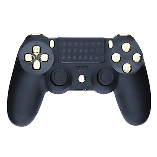 Mod Freakz Shellbutton Kit Color And Gold Collection Matte Black Gold Not A Controller For Ps4 Gen 1 Controll Ps4 Controller Ps4 Controller Custom Playstation