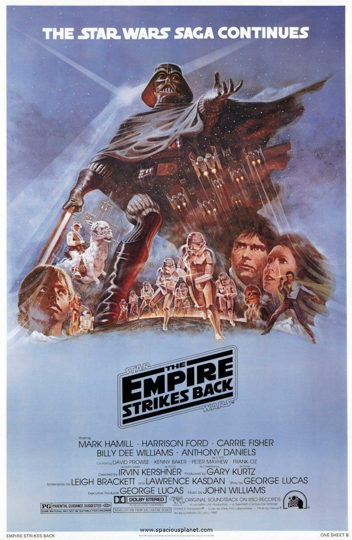 "Retro ""Empire Strikes Back"" poster. My favorite Star Wars movie! Now I want to watch it!"