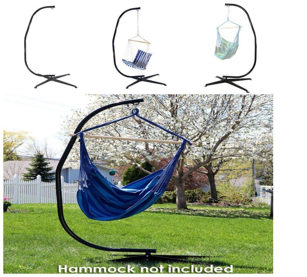 Sunnydaze decor hammock stand for hanging chair swings black steel
