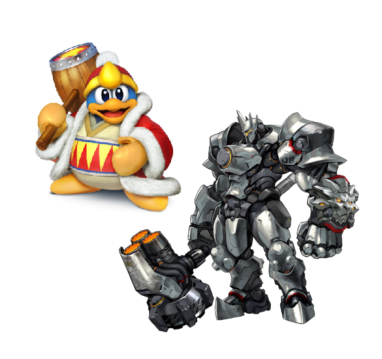 Reinhardt X King Dedede Mario Characters Character Bowser