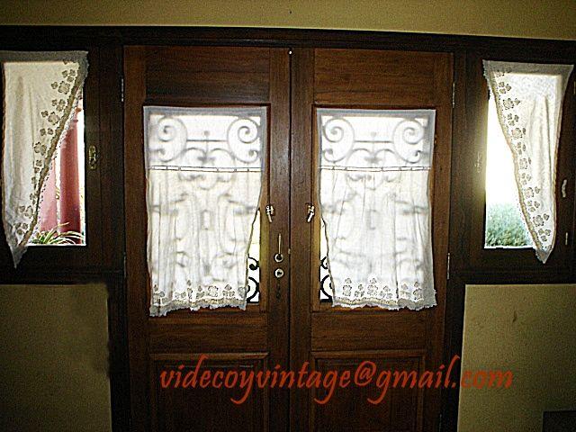 Visillos para puertas vidrio repartido buscar con google - Cortinas para puertas de cocina ...