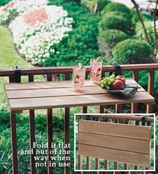 Deck Railing Tables Table Design Ideas