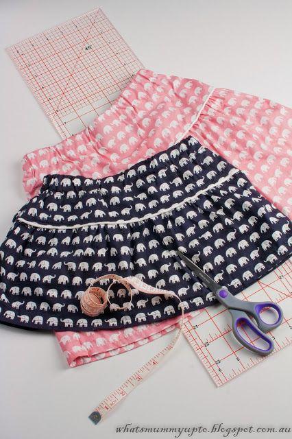07e09d6a7 Lindas faldas de elefantitos | costura | Ropa para niñas, Coser ...