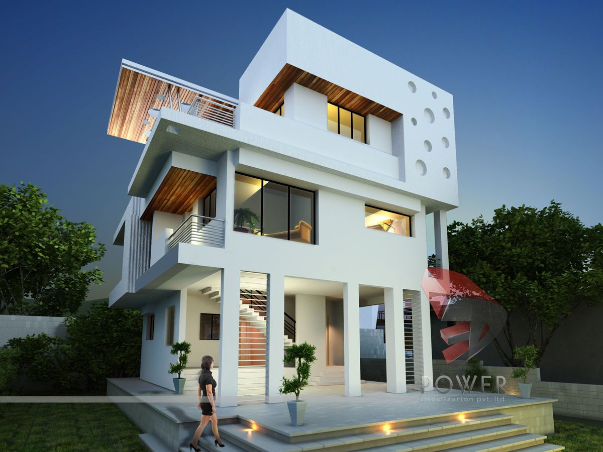 Whether It S About Creating Shading And Texturing Of An Image Of A Bungalow Or Creating Two Dimensional Modern House Design Modern House Plans Bungalow Design