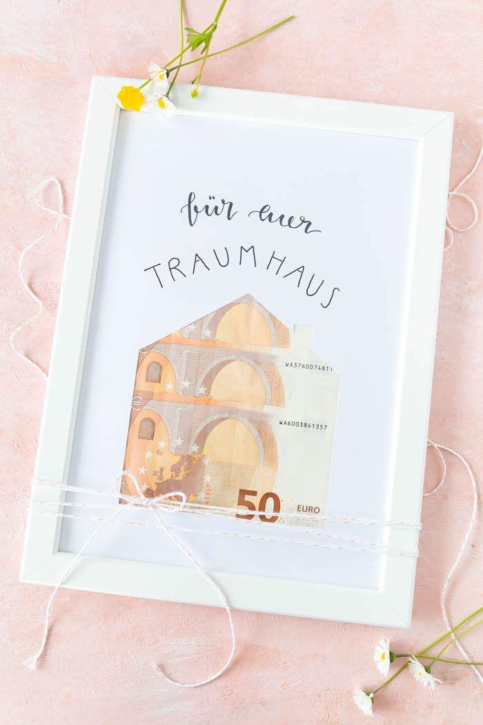 Einfaches Haus-Geldgeschenk zur Hochzeit | ars textura – DIY-Blog