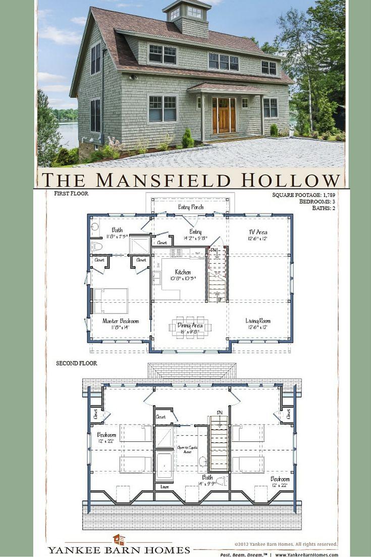 Mansfield Hollow Barn House Design Yankee Barn Homes Barn