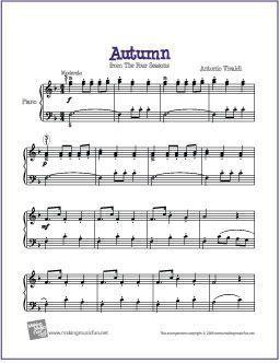 Autumn Four Seasons By Antonio Vivaldi Free Sheet Music For