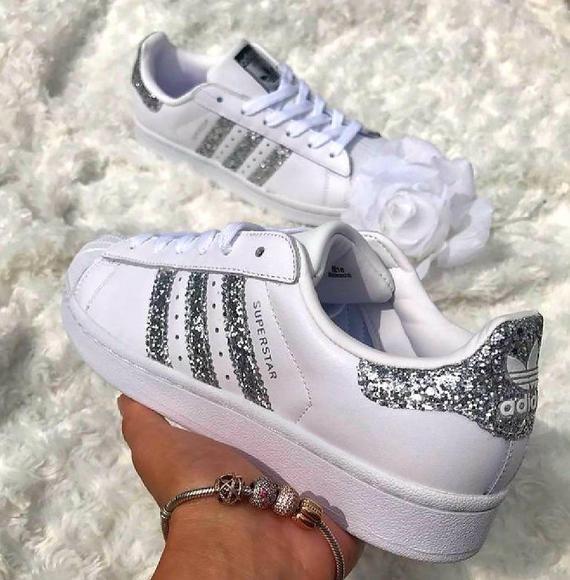 Glitter Adida sneakers | Etsy | Adidas shoes women, Adidas ...