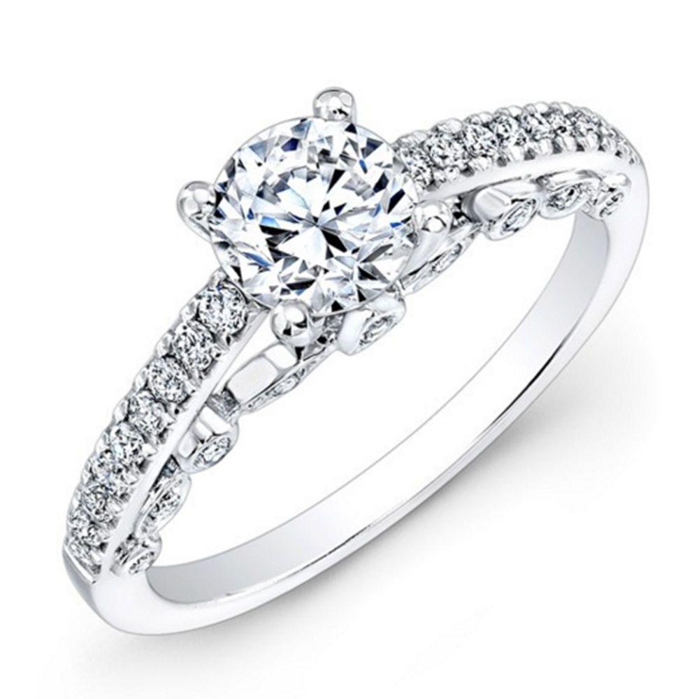 Brilliant round cut ct diamond engagement ring k hallmarked