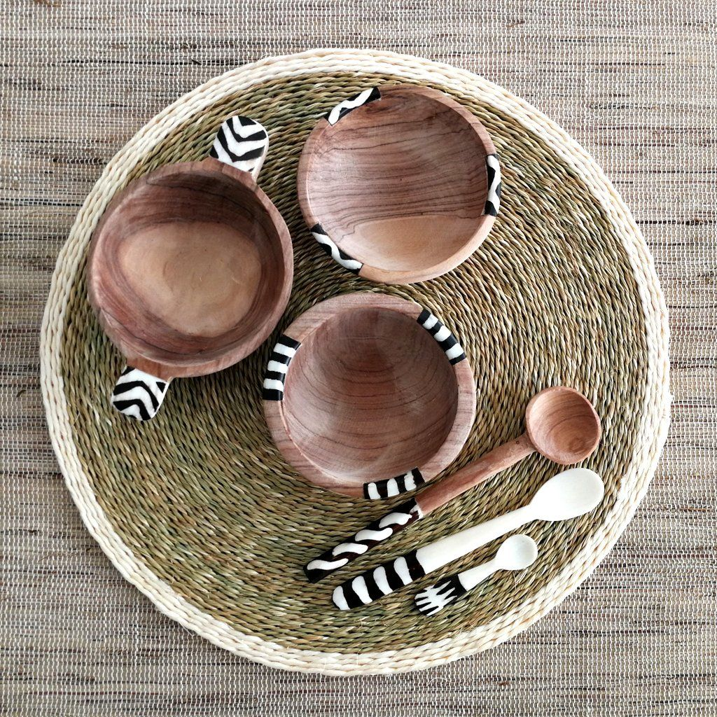 Olive Wood Bowl And Spoon Set In 2019 African Kitchen Home