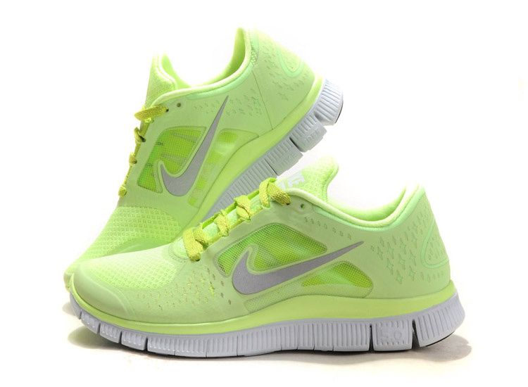 neon nike free runs