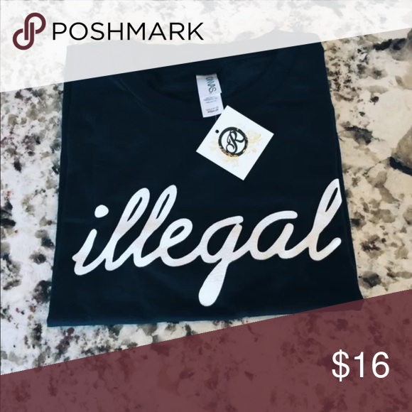 Illegal shirt Rand new with tags Tops Crop Tops